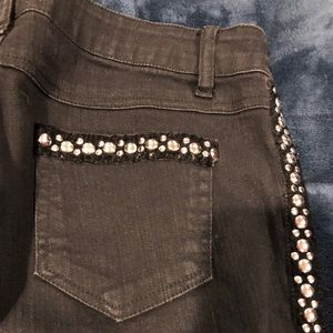Cache black Jeans with studs